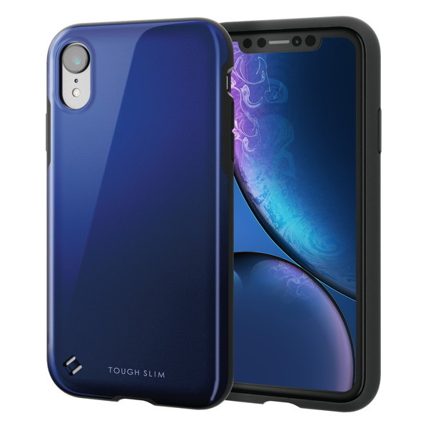 ELECOM PM-A18CTS2BU iPhone XR TOUGH SLIM2 ブルー ケース・カバー