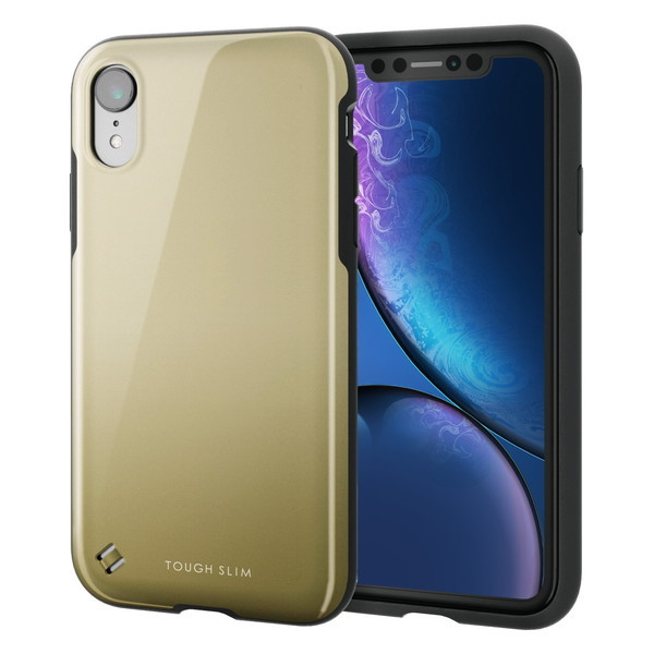 ELECOM PM-A18CTS2GD iPhone XR TOUGH SLIM2 ゴールド ケース・カバー